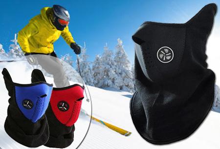 Winddicht skimasker van fleece en neopreen t.w.v. €29,95 nu GRATIS!