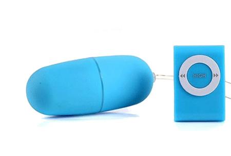Vibrator Egg met afstandsbediening | Spannend en compact speeltje  Lichtblauw