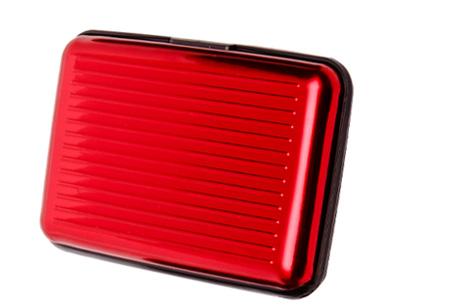 Pasjeshouder 1+1 GRATIS | Al je pasjes veilig en geordend rood