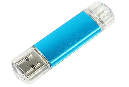 Dual USB-geheugenstick met micro USB-aansluiting voor Android smartphones en tablets nu al vanaf €7,95 | 8, 16 of 32 GB blauw
