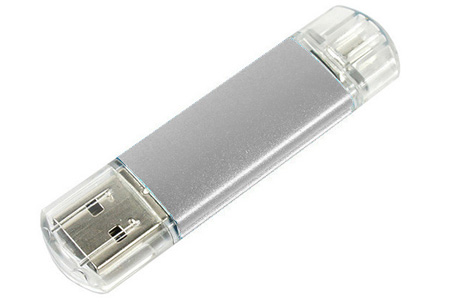 Dual USB-geheugenstick met micro USB-aansluiting voor Android smartphones en tablets nu al vanaf €7,95 | 8, 16 of 32 GB grijs