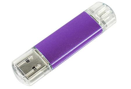 Dual USB-geheugenstick met micro USB-aansluiting voor Android smartphones en tablets nu al vanaf €7,95 | 8, 16 of 32 GB paars
