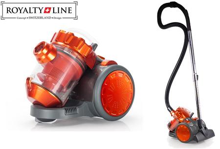 Multi-Cyclone stofzuiger van Royalty Line | Met uniek filtersysteem voor schonere lucht