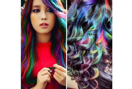 Uitwasbaar haarkrijt in 24 kleuren | Gekleurd haar in een handomdraai!