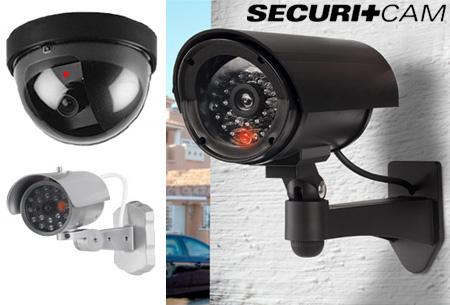 Dummy beveiligingscamera in 3 modellen nu al vanaf €7,95 | Verklein de kans op inbraak of diefstal!