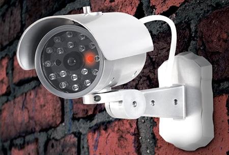 Dummy beveiligingscamera in 3 modellen nu al vanaf €7,95 | Verklein de kans op inbraak of diefstal! model 3