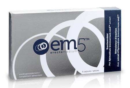 EM5 erectiepillen 12 capsules nu slechts €13,95!