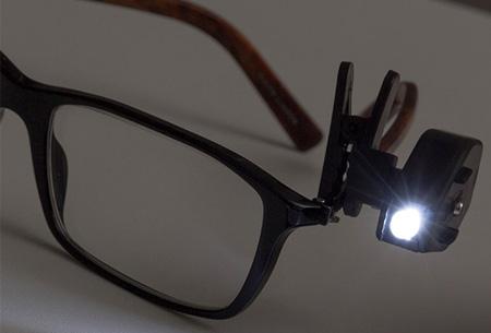 LED-clip voor je bril nu slechts €4,95!