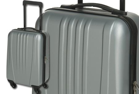 Handbagage koffer + voucher voor twee Europese retour vliegtickets nu slechts €54,95! grijs