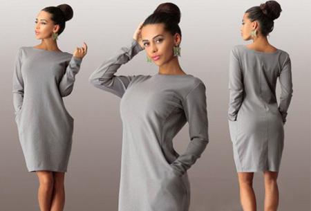 Ladylike jurk nu slechts €14,95 | Fashionable & comfy musthave! grijs