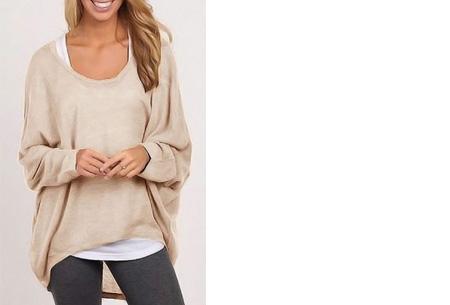 Oversized batwing shirt | Comfortabel & stijlvol Beige