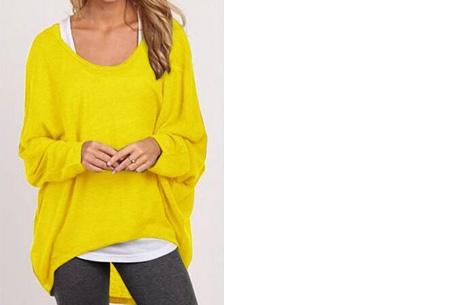 Oversized batwing shirt | Comfortabel & stijlvol Geel