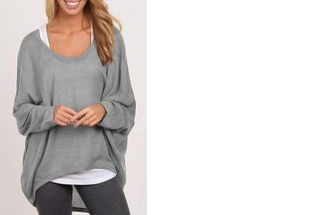 Oversized batwing shirt | Comfortabel & stijlvol Grijs
