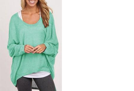 Oversized batwing shirt - Mintgroen - Maat XS