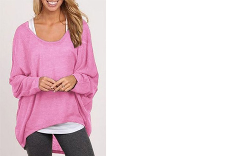 Oversized batwing shirt | Comfortabel & stijlvol Roze