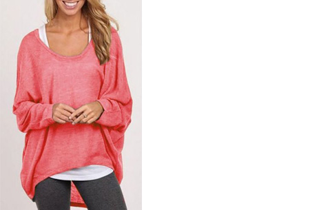 Oversized batwing shirt | Comfortabel & stijlvol Watermeloen roze