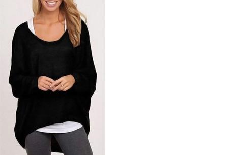 Oversized batwing shirt | Comfortabel & stijlvol Zwart