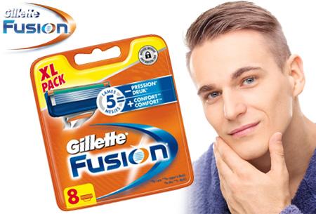 Gillette Fusion 8-pack scheermesjes nu slechts €18,95