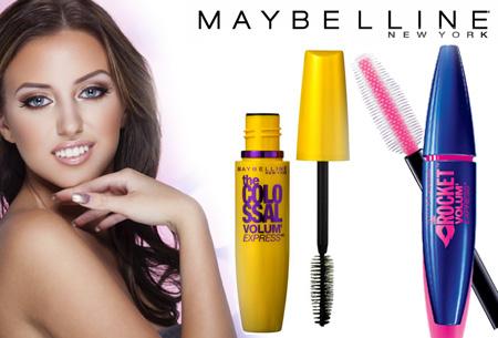 Maybelline Colossal Volum'Express mascara's nu met mega korting! Set van 2 slechts €12,95