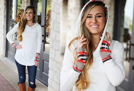 Dames sweater met aztec details nu slechts €17,95 | Basic trui met bohemian touch Wit