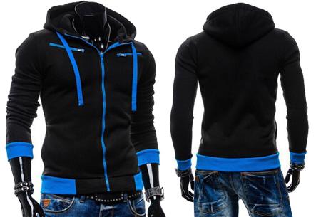 Hoodie heren vest nu slechts €17,95 | Keuze uit 5 kleuren Zwart