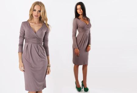 Dames chique jurk nu slechts €17,95 | Camoufleert je probleemzones!  Coffee
