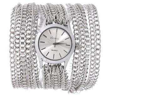 Geneva armbandhorloge nu slechts €7,95 | Hippe en stoere accessoire! zilverkleurig