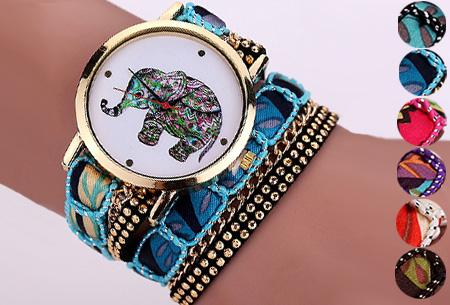 Armbandhorloge met schattig olifantje nu slechts €6,95 | Een armband en horloge in één!