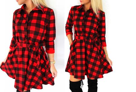 Dames blouse jurk nu slechts €17,95 | Vrouwelijk, stijlvol & chique! Rood
