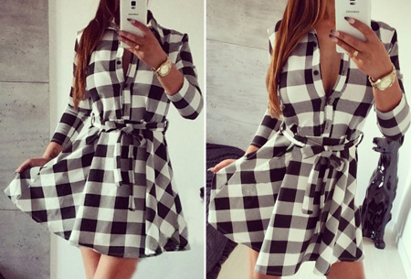 Dames blouse jurk nu slechts €17,95 | Vrouwelijk, stijlvol & chique! Wit