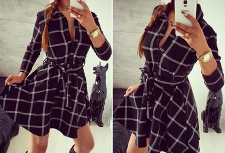 Dames blouse jurk nu slechts €17,95 | Vrouwelijk, stijlvol & chique! Zwart