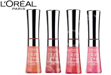 L'Oréal Glam Shine lipgloss - set van 4 stuks nu slechts €12,95 | Laat je lippen schitteren!