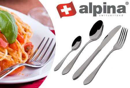 24-delige bestekset van Alpina nu slechts €28,95! Topkwaliteit bestek voor een spotprijs
