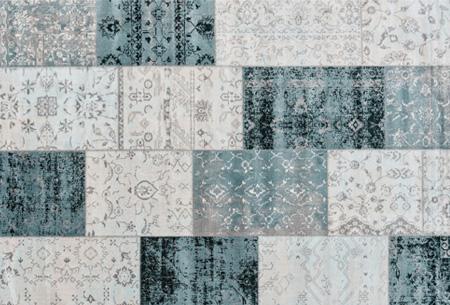 Prachtige vintage vloerkleden al vanaf slechts €39,95 | Verschillende kleuren, maten en designs! Donkerblauw Grijs 2