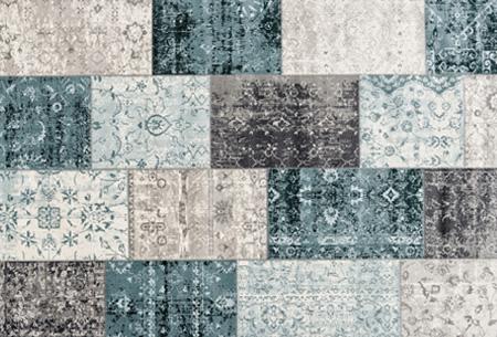 Prachtige vintage vloerkleden al vanaf slechts €39,95 | Verschillende kleuren, maten en designs! Donkerblauw Grijs