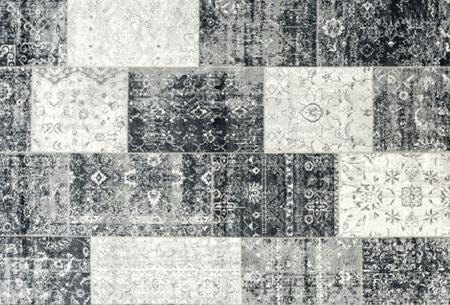 Prachtige vintage vloerkleden al vanaf slechts €39,95 | Verschillende kleuren, maten en designs! Geblokt - Antraciet