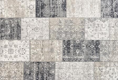 Prachtige vintage vloerkleden al vanaf slechts €39,95 | Verschillende kleuren, maten en designs! Geblokt - Donkergrijs
