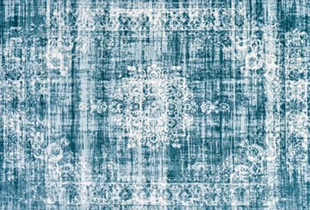 Prachtige vintage vloerkleden al vanaf slechts €39,95 | Verschillende kleuren, maten en designs! Medaillion - Lichtblauw