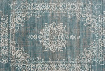 Prachtige vintage vloerkleden al vanaf slechts €39,95 | Verschillende kleuren, maten en designs! Medaillion - Grijsblauw