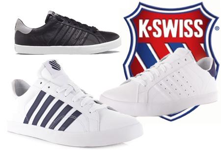 K-Swiss lederen heren sneakers al vanaf slechts €44,95 | Mis de korting niet!