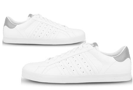 K-Swiss lederen heren sneakers al vanaf slechts €44,95 | Mis de korting niet! Belmont P - Grijs
