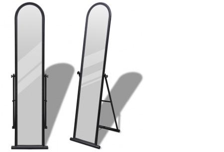 Vrijstaande spiegel nu al vanaf €34,95! Keuze uit diverse modellen en kleuren model 1 - zwart