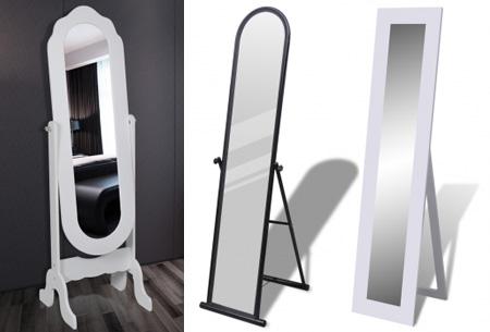 Vrijstaande spiegel nu al vanaf €34,95! Keuze uit diverse modellen en kleuren