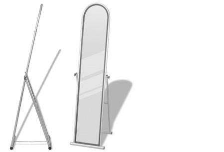 Vrijstaande spiegel nu al vanaf €34,95! Keuze uit diverse modellen en kleuren model 1 - grijs