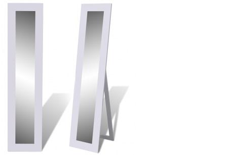 Vrijstaande spiegel nu al vanaf €34,95! Keuze uit diverse modellen en kleuren model 2 - wit