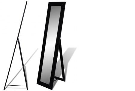 Vrijstaande spiegel nu al vanaf €34,95! Keuze uit diverse modellen en kleuren model 2 - zwart