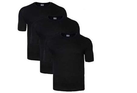 Pierre Cardin heren t-shirts 3-pack of 9-pack al vanaf €12,95 | Topkwaliteit voor een spotprijs! zwart
