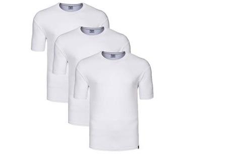 Pierre Cardin heren t-shirts 3-pack of 9-pack al vanaf €12,95 | Topkwaliteit voor een spotprijs! wit