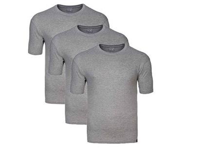 Pierre Cardin heren t-shirts 3-pack of 9-pack al vanaf €12,95 | Topkwaliteit voor een spotprijs! grijs