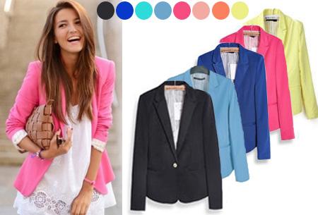 Mooie dames blazer verkrijgbaar in 8 kleuren, nu voor slechts €14,95!